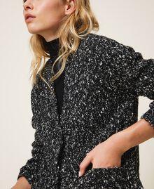 Tweed knit maxi cardigan Magenta Pink Woman 202LI3PFF-04