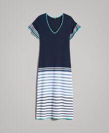 Long striped openwork dress Multicolour Blunight Striping Woman 191MT3082-0S
