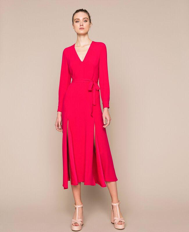 Длинное платье с разрезами Вишня женщина 201TP2433-04