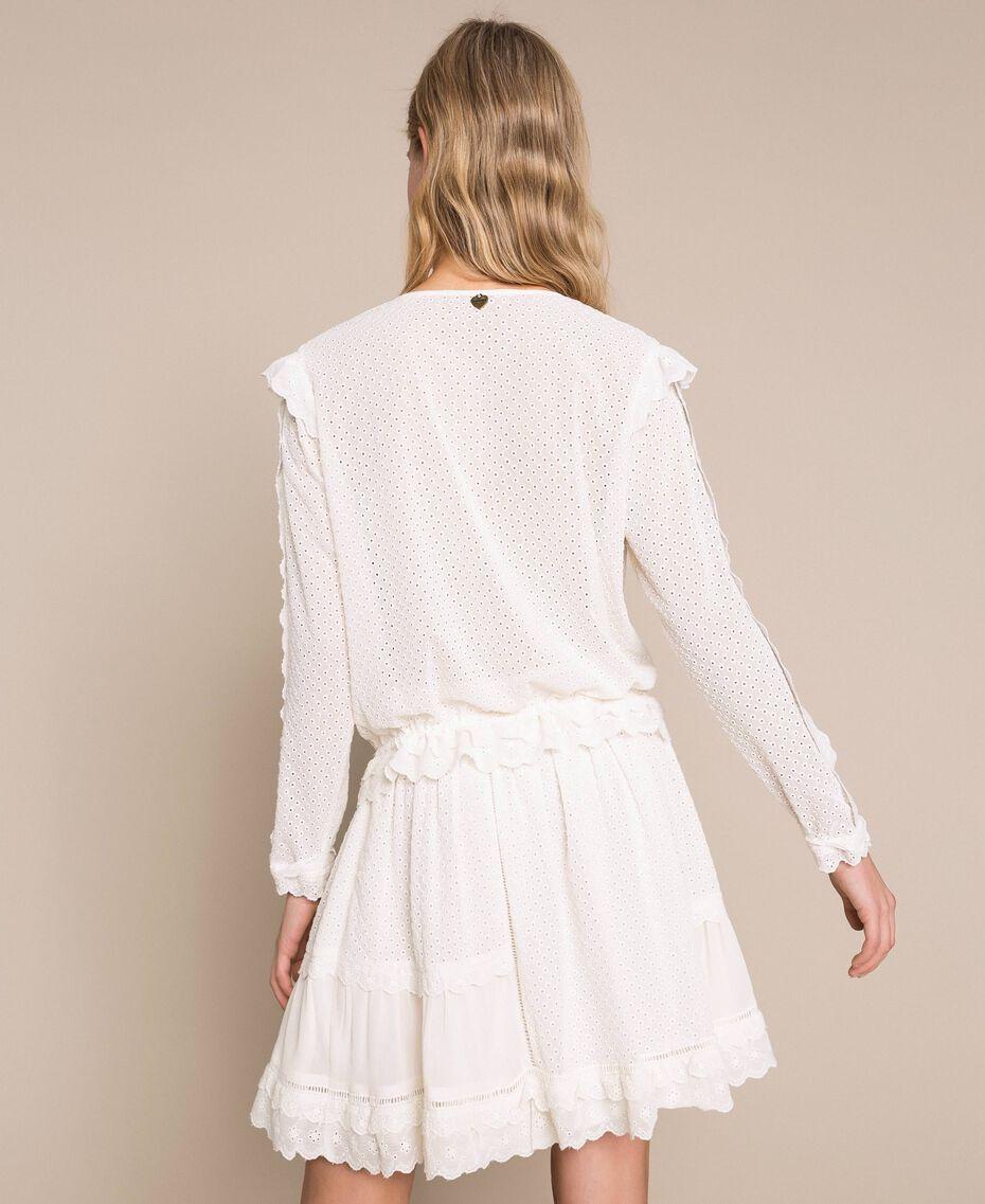 Blouse en broderie anglaise Blanc Neige Femme 201TP2492-03