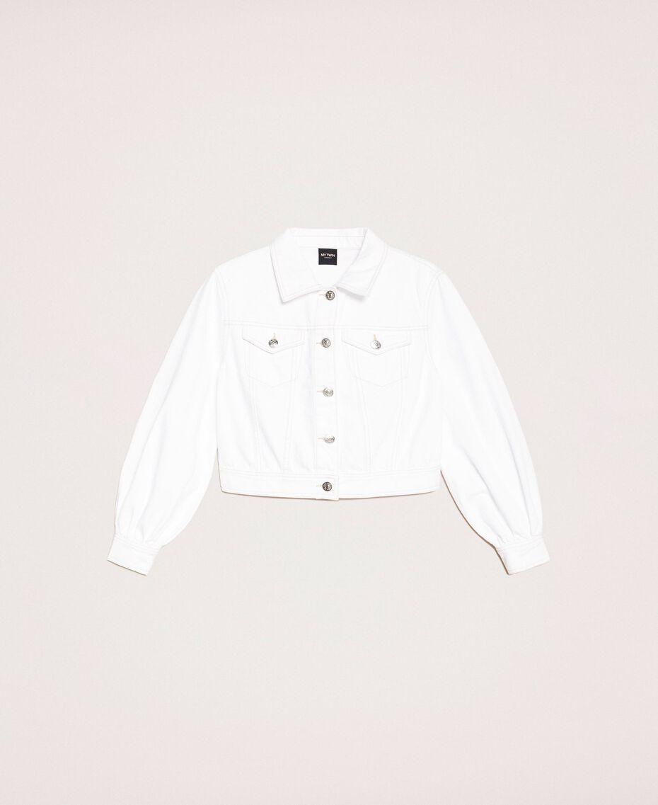"""Blouson en jean blanc Blanc """"Ice"""" Femme 201MT2230-0S"""