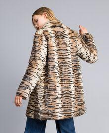 Printed rabbit coat Tiger Print Woman TA82AN-03