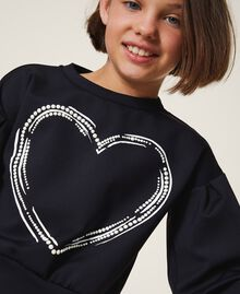Scuba sweatshirt with heart Black Child 202GJ2702-01