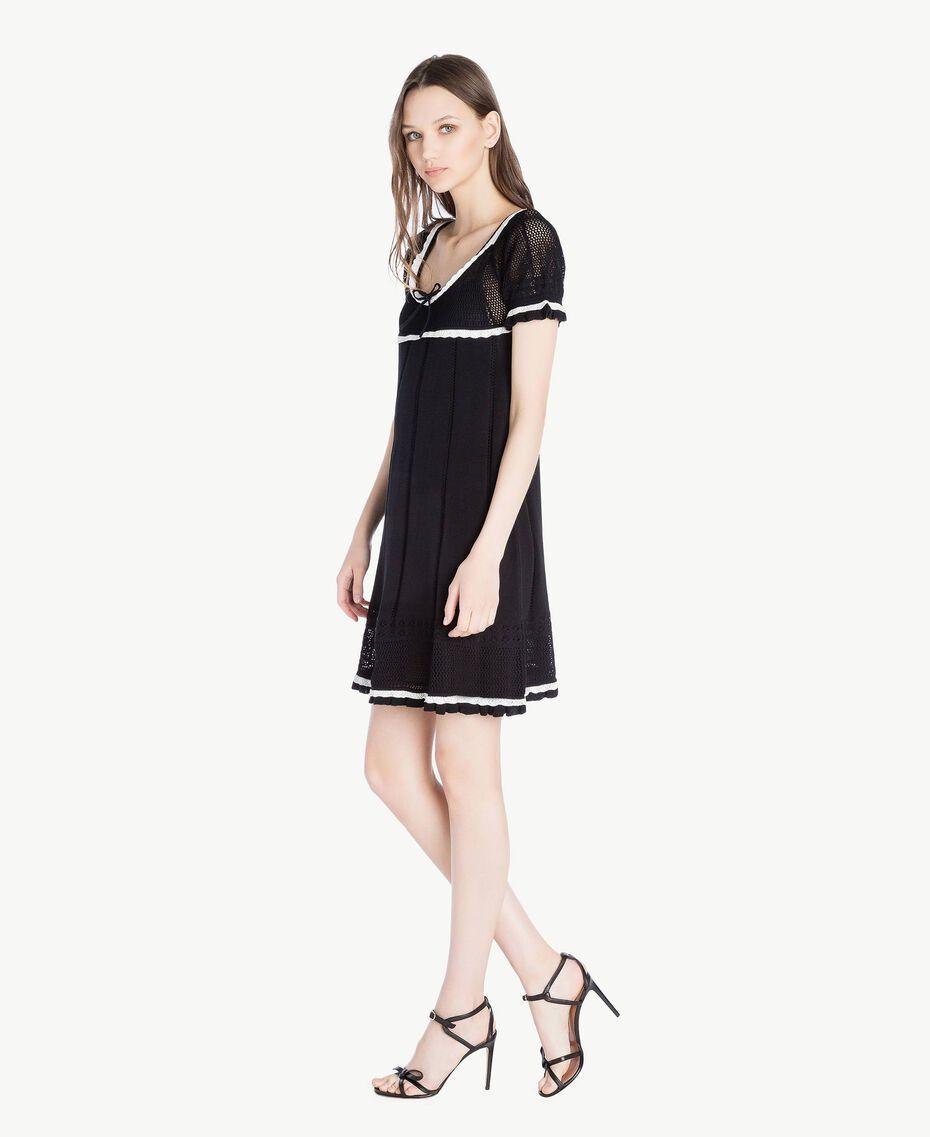Cotton dress Black Woman TS83AN-02