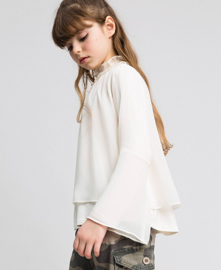 Blusa in georgette Chantilly Bambina 192GJ2351-03