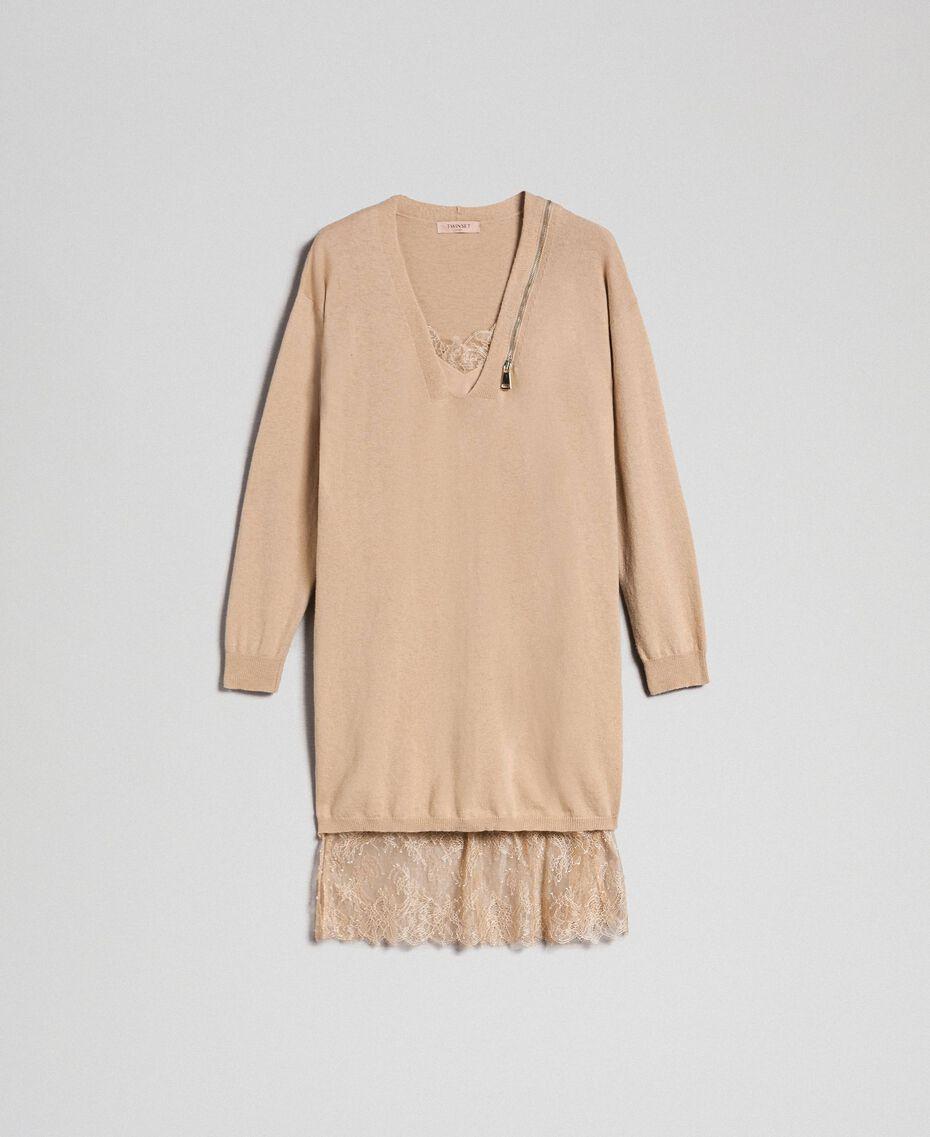 Cashmere blend maxi jumper Camel Woman 192TT3090-0S