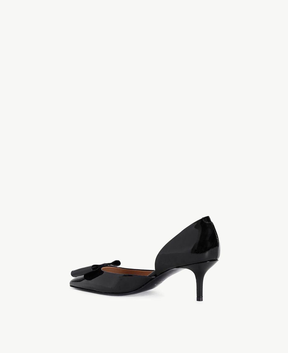 TWINSET Patent leather court shoes Black Female CA7PLU-03