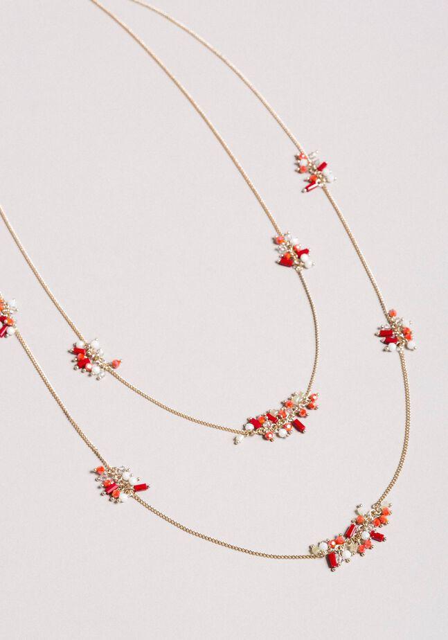 Collier à chaînes multiples orné de perles
