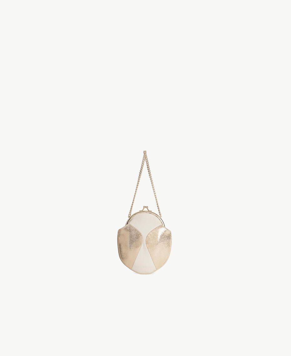 "TWINSET Mini clutch bag Two-tone ""Dune"" Beige / Light Gold Woman OS8TDU-03"