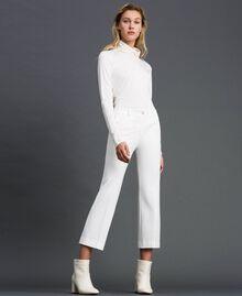 Расклешенные брюки Белый Снег женщина 192TP2092-02