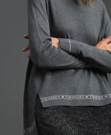Silk and cashmere jumper with logo Melange Grey Woman 192TP3151-04