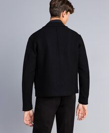 Boiled wool bomber jacket Black Man UA83CB-04