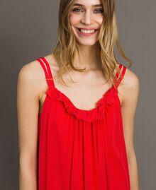 "Tulle dress with shoulder straps ""Framboise"" Red Woman 191LM2FCC-04"
