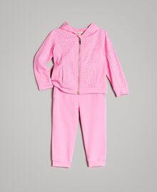 """Спортивный костюм стрейч из хлопка со стразами """"Crystal Pink"""" Розовый Pебенок 191GB2461-01"""