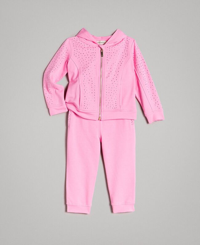 "Stretch cotton tracksuit with rhinestones ""Crystal Pink"" Child 191GB2461-01"
