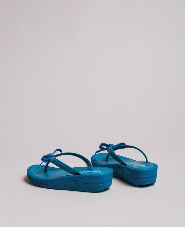 Wedge flip flops Antigua Blue Woman 191LM4ZLL-03