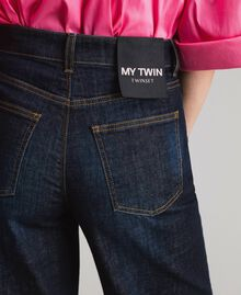 Weite Dreiviertel-Jeans Denimblau Frau 191MP2470-05