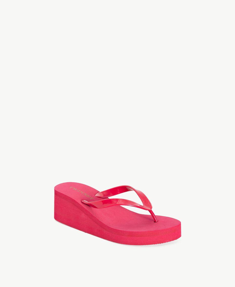Platform flip flop shoes Pink Vegas Fuchsia Woman BS8ZAA-02