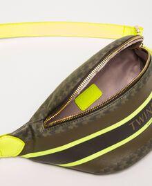 Sac banane en similicuir imprimé papillons Imprimé Papillon Vert «Camouflage»/ Jaune Fluo Femme 201TA7244-04