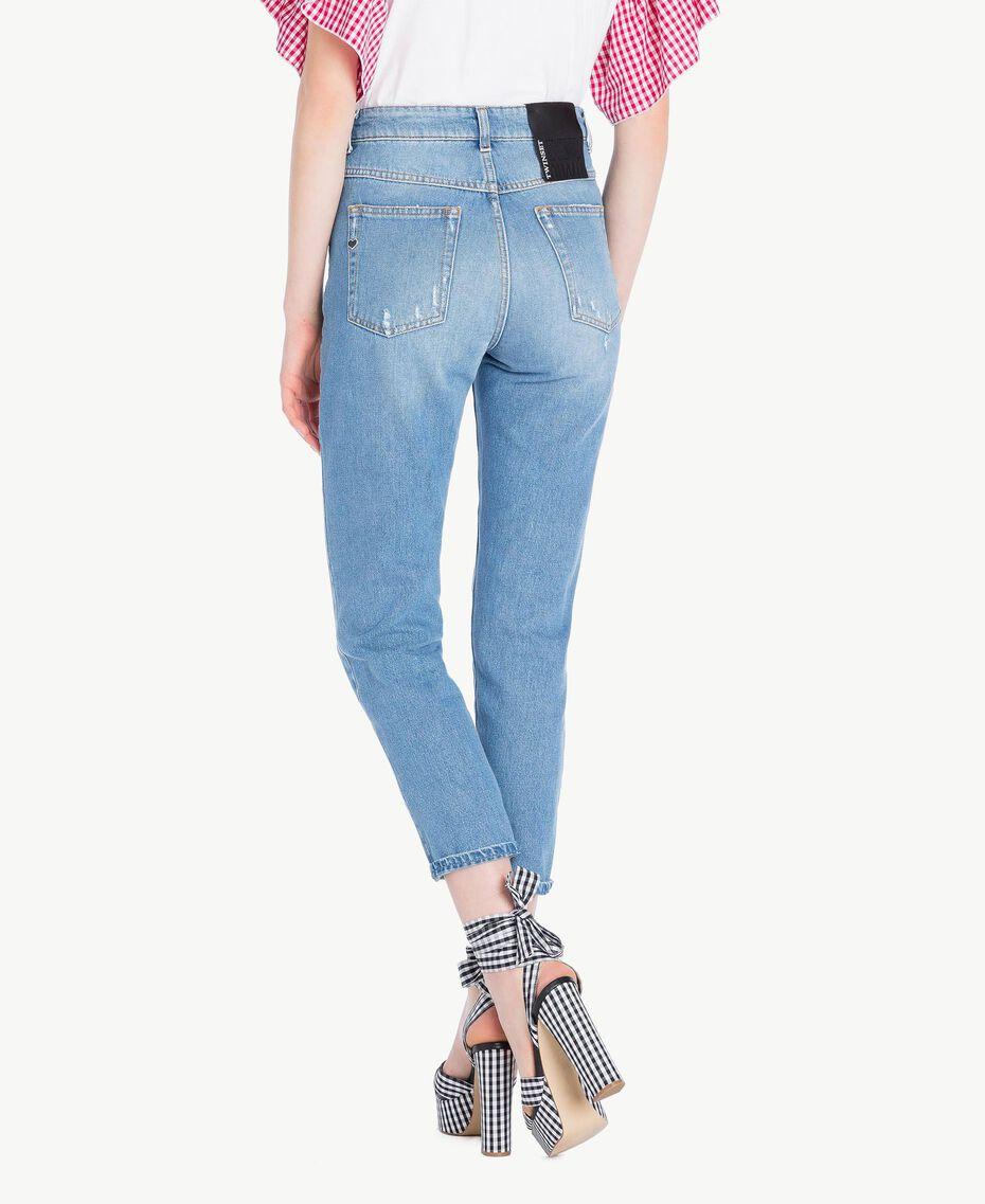 Jeans mit hoher Taille Denimblau Frau JS82WN-03