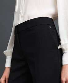 Cigarette trousers in technical wool Black Woman 192TP2356-04