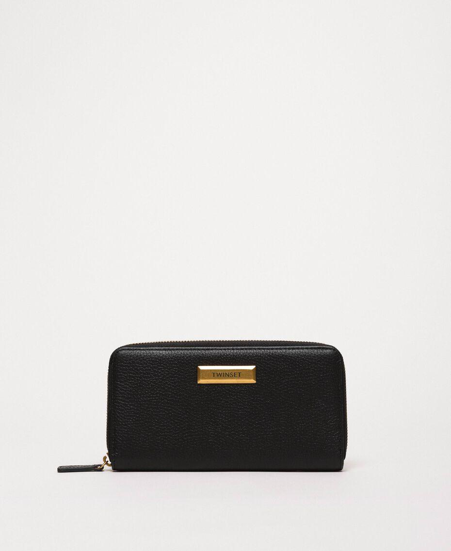 Кожаный кошелек Bea Bag с круговой молнией Черный женщина 201TA7032-01
