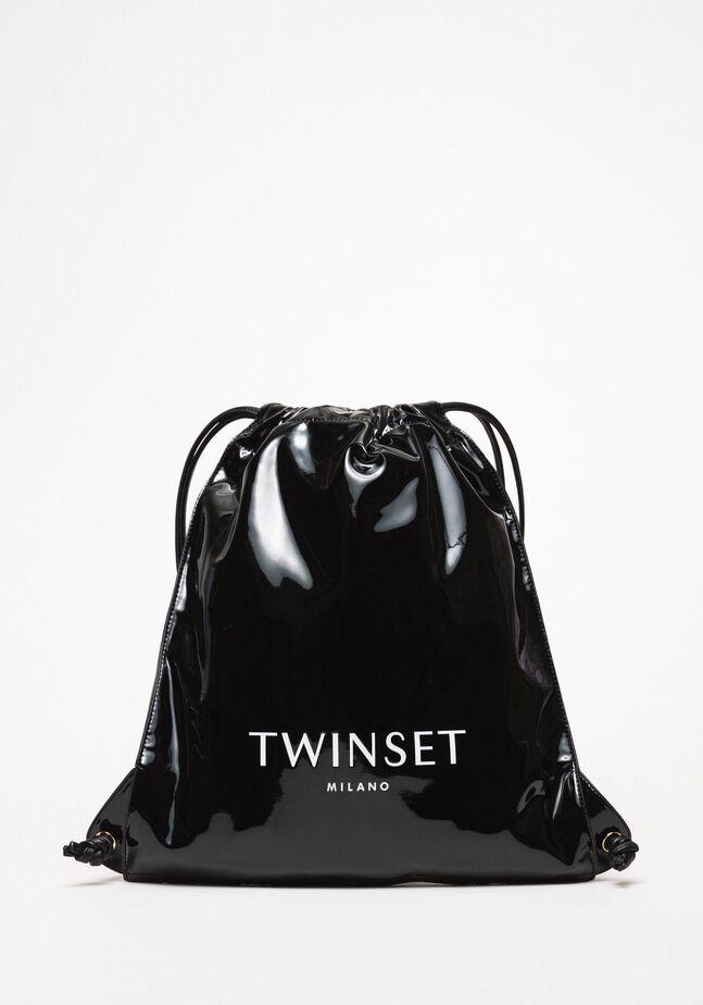 Рюкзак-мешок из искусственной кожи с эффектом винила