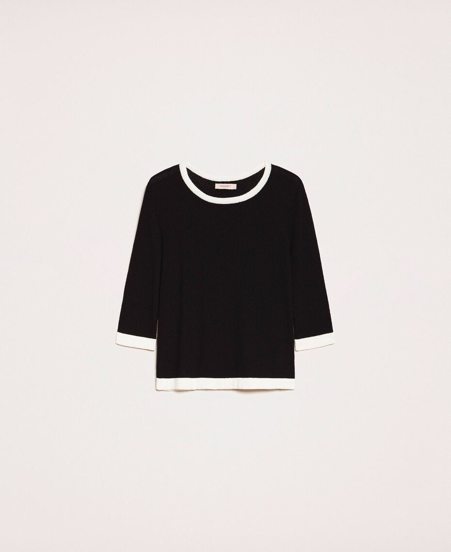 Slim fit jumper Black Woman 201TQ3050-0S