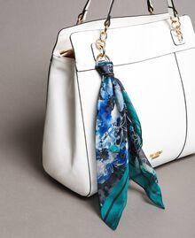 Hobo-Bag aus Lederimitat mit Halstuch Mattweiß Frau 191MO8102-01