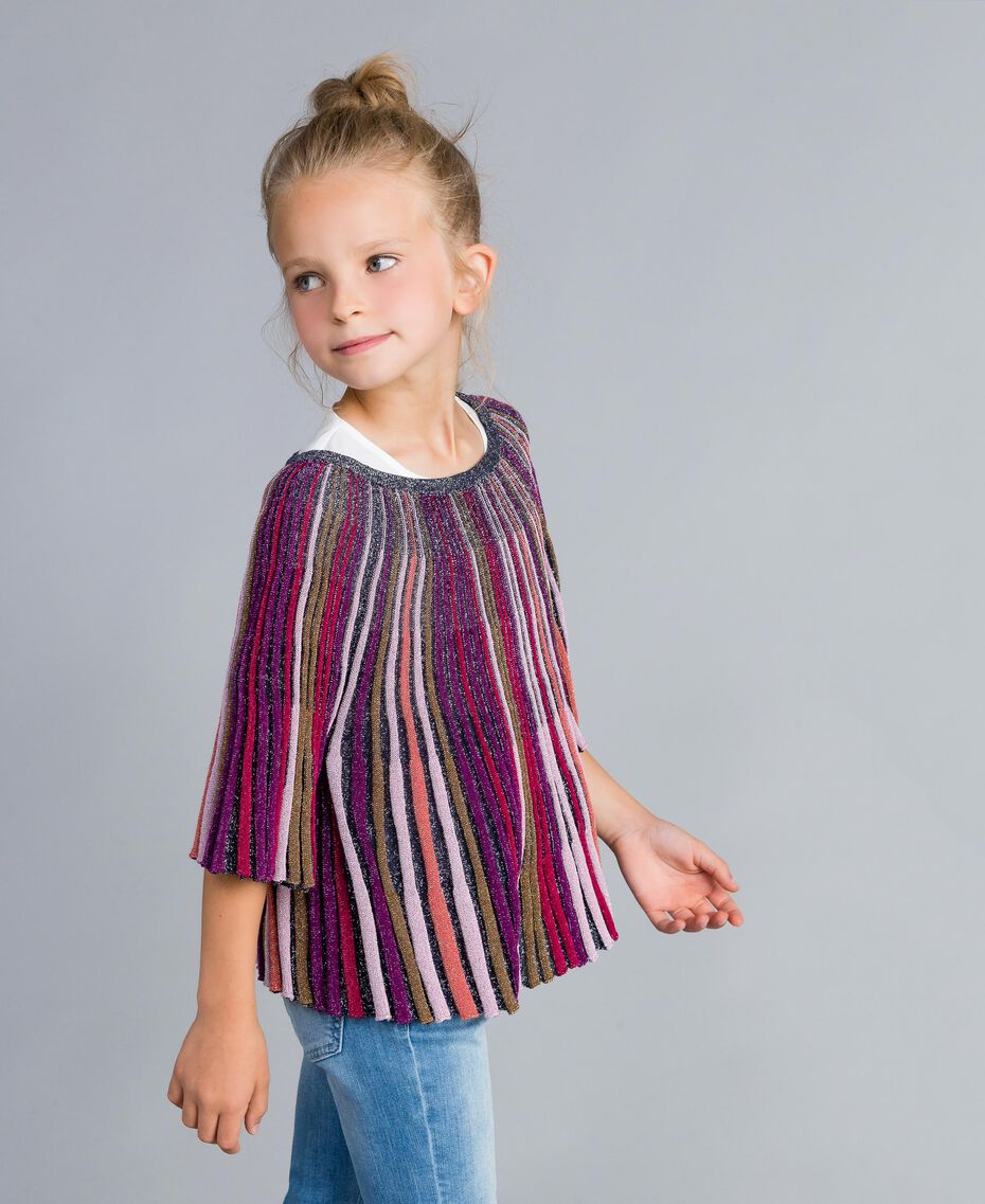 Maglia in lurex multicolor Multicolor Lurex Bambina GA83KN-02