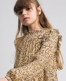 Blusa de georgette con animal print y flores Estampado Leopardo / Flor Niño 192GJ2571-04