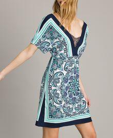 Abito in crêpe de Chine stampa foulard Stampa Dressing Scarf Blunight Donna 191MT2123-05