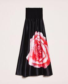 Long dress with print Black Rose Print Woman 201LB28SS-0S