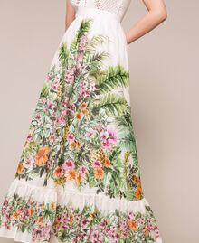 Long skirt with floral print Snow Jungle Flowers Print Woman 201TT2484-04