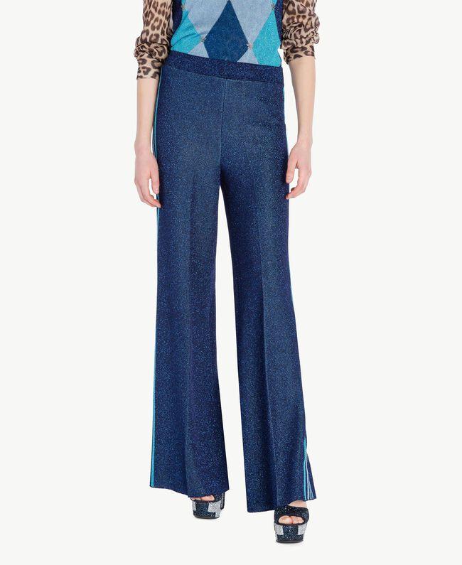 Lurex trousers Royal Blue Lurex Woman PS83ZE-01