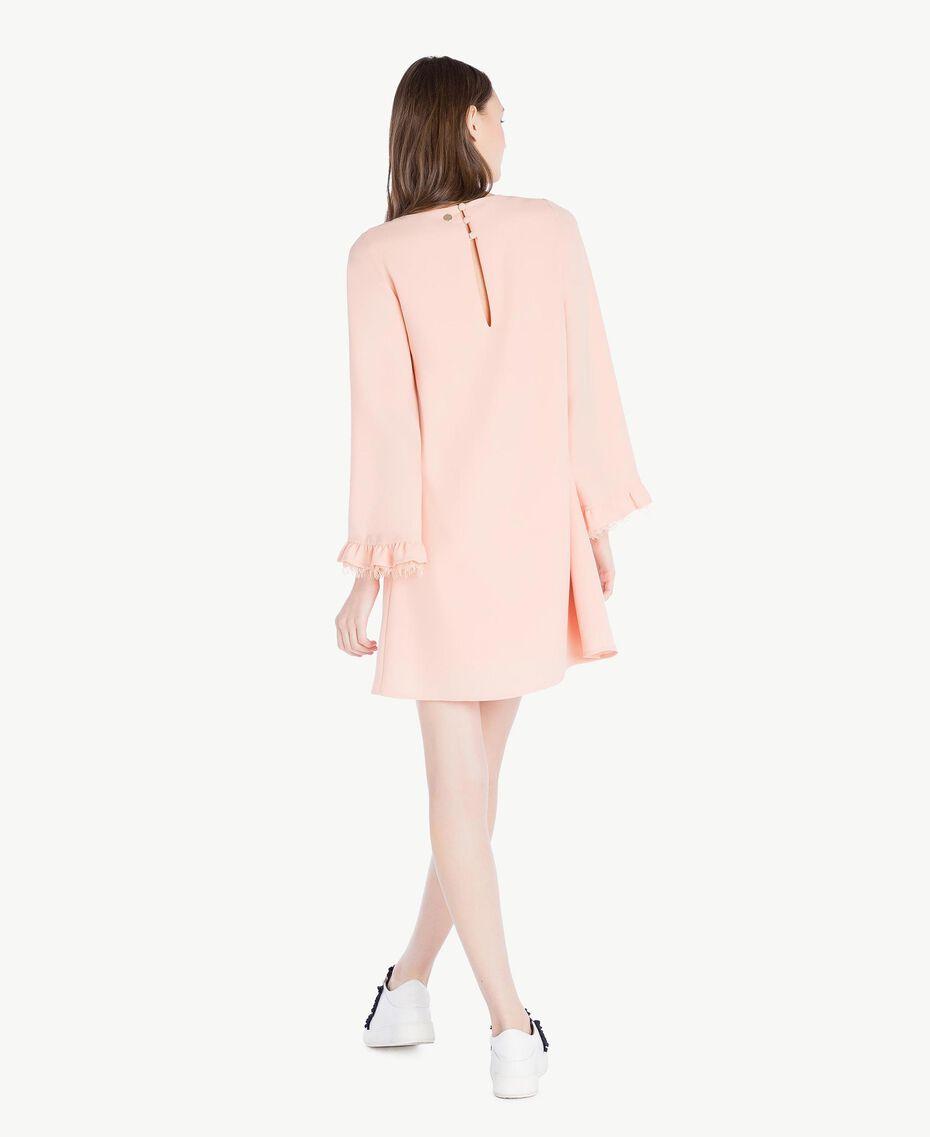 Kleid aus Cady Rosafarbener Sonnenaufgang Frau SS82AC-03