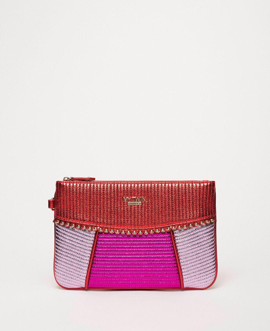 Pochette in similpelle multicolor Multicolor Rosso / Pink / Fuxia Donna 201MA7025-02