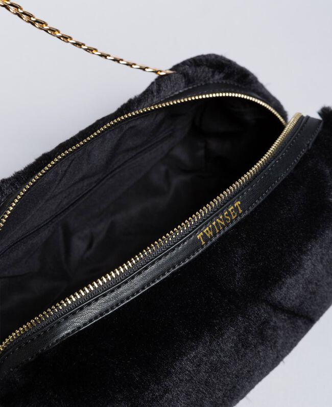 Trousse à maquillage en fausse fourrure Noir Femme LA8ZGG-03