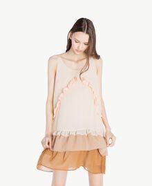 Kleid mit Volants Multicolor Seilbeige Frau SS82DC-04