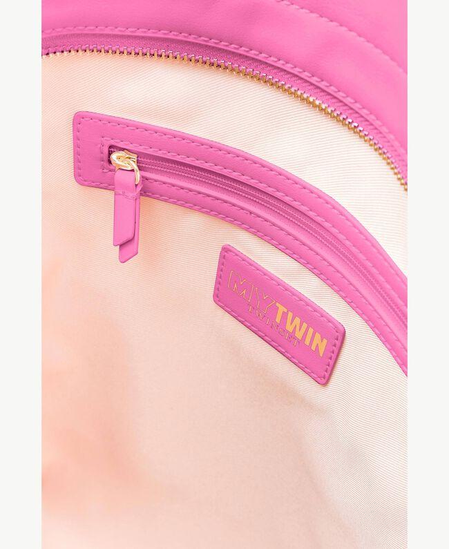 TWINSET Sac similicuir Imprimé «Happy» Soie Fuchsia Femme RS8TF2-04