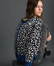 Pull boxy double usage avec strass Imprimé Animalier Noir / Lys Femme 192MP3230-01