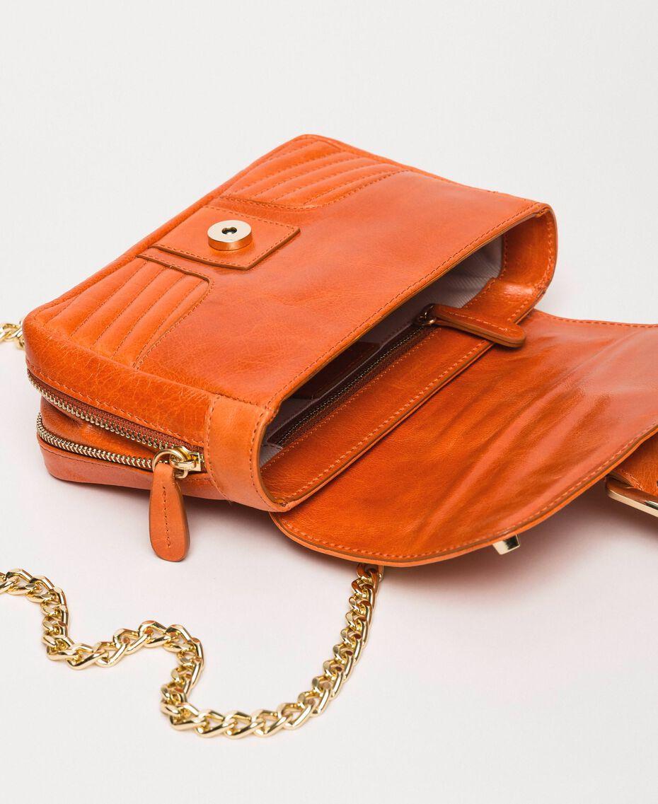 """Маленькая кожаная сумка через плечо Rebel Красный """"Яшма"""" женщина 999TA7237-05"""