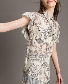 Silk blend printed shirt Toile De Jouy Black Print Woman 191TT2403-02