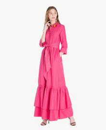 Langes Kleid aus Popeline Provocateur Pink Frau TS821B-01