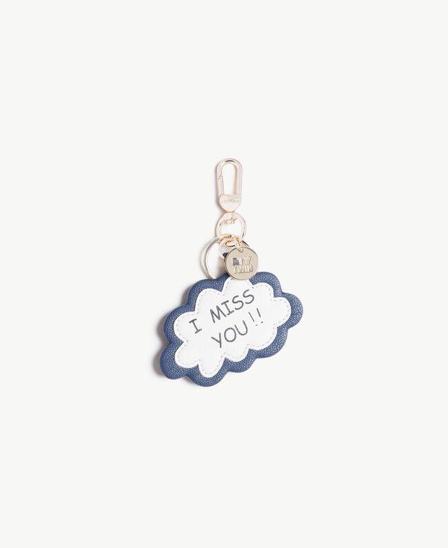 Porte-clés bande dessinée Imprimé «I Miss You» Bleu Océan Femme VS8PEA-01