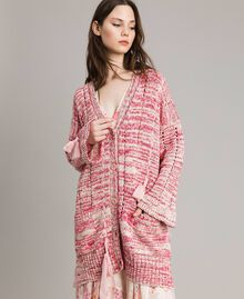 Maxi cardigan with ribbons Multicolour Pink Pattern Woman 191TP3280-02