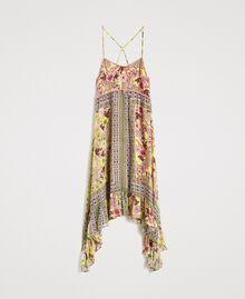 """Robe en mousseline avec imprimé foulard Imprimé Foulard Jaune """"Jus De Citron"""" Femme 191LB2HEE-0S"""
