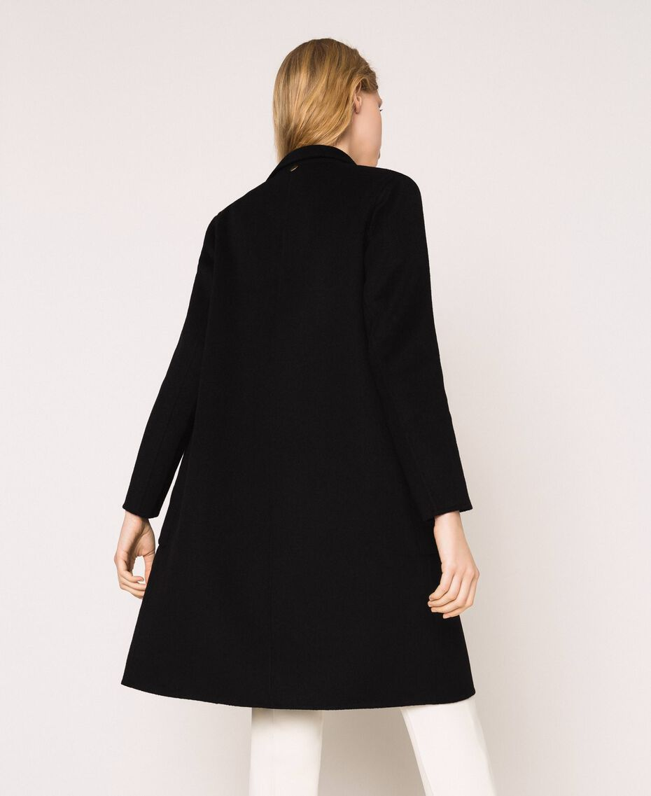Double wool cloth coat Black Woman 201TP242A-03