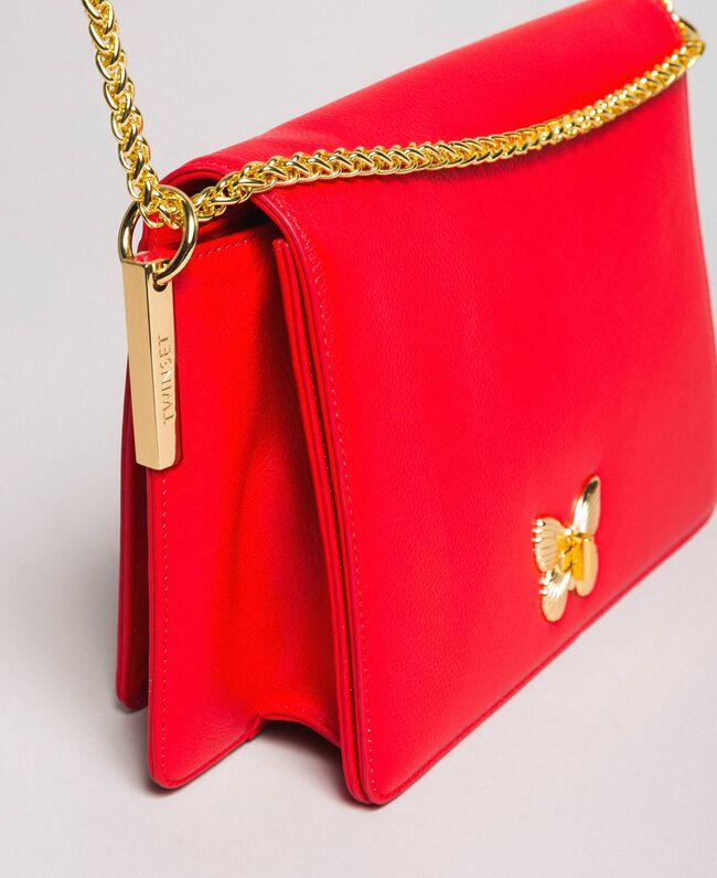 "Große Umhängetasche ""Bea Bag"" aus Leder ""Ruby Butterfly"" Rot Frau 191TA7140-04"