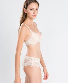 Soutien-gorge push-up lisse avec dentelle festonnée Blanc Femme IA8C33-0S